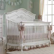 Designer Convertible Cribs Convertible Crib Pearl Finish And Nursery Necessities In