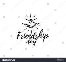 friendship quote korean happy friendship day vector typographic design stock vector