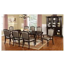 Dining Room Tables Set Sun U0026 Pine 9pc Elegant Designed With Tan Chairs Dining Table Set