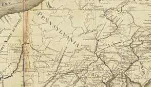 Erie County Map Map Of 1795 To 1799 Pennsylvania Maps