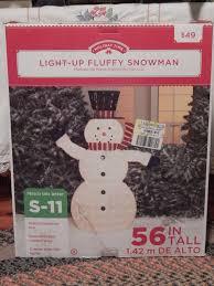holiday time christmas decor 56 fluffy snowman sculpture ebay