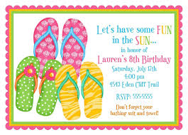 flip flop invitations flip flops summer by littlebeaneboutique