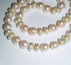 pink coloured beads necklace images The 43 best pearl glass bead necklaces images bead jpg