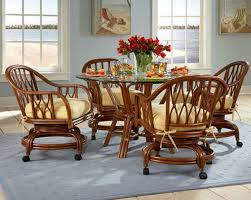 rattan kitchen furniture exciting kitchen table and chairs with casters caster dining room