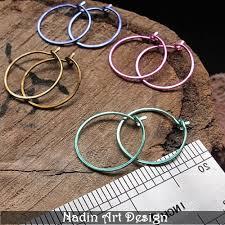 ear hoops pink hoop earrings colored small hoops 15mm circle ear wires