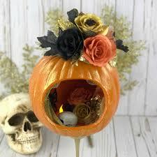 halloween pumpkin halloween decor floral pumpkin halloween