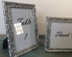 silver frames for wedding table numbers table number frames etsy