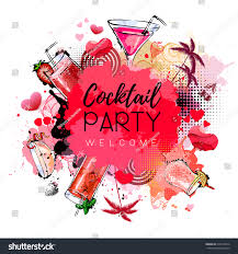cocktail party poster design cocktail menu stock vector 519219814