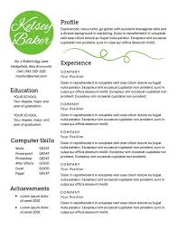 Good Resume Experience Examples by Best 25 Good Resume Templates Ideas On Pinterest Good Resume