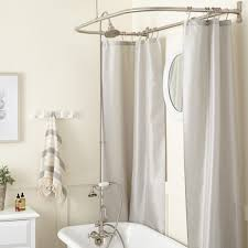 Restoration Hardware Shower Curtain Rings Clawfoot Tub To Shower Conversion Kits Signature Hardware