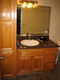Custom Bathroom Vanities by Custom Pine Bathroom Vanities With Storage Tower Bathroom