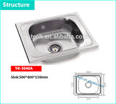 Sri Lanka Size Stainless Steel Portable Sinks Kitchen With Low - Kitchen sink portable