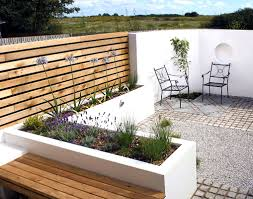 courtyard design house impressive modern urban garden design raised border in