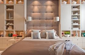 Headboards With Built In Lights Clip On Headboard Reading Lamp Bedroom Contemporary With Tufted