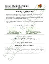 teacher resume sample page 1