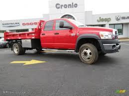 Dodge Ram 4500 - 2008 flame red dodge ram 4500 hd slt crew cab 4x4 dump truck