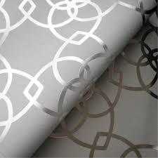 muriva marrakesh geometric silver metallic wallpaper 701369