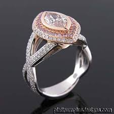 browns wedding rings pink brown diamond pink white diamond two tone