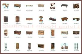 List Of Living Room Furniture Living Room Furniture Names 1025theparty