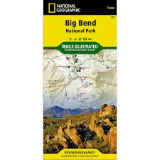 Big Bend National Park Map 225 Big Bend National Park Trail Map National Geographic Store