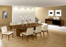 Contemporary Dining Room Decor Oval Brown Wooden Dining Table White Wood Rectangular Dining Table
