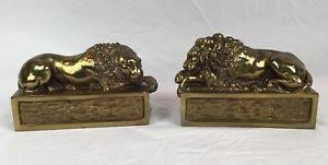 bookends lion lion bookends ebay