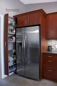 Bifold Kitchen Cabinet Doors Best 25 Refrigerator Cabinet Ideas On Pinterest Kitchen