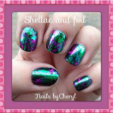 shellac nails with foil art my creations pinterest foil art