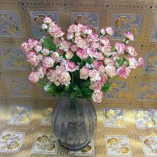 bonsai silk flower artificial fake flower bush bouquet home