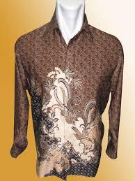 Baju Batik Batik baju batik batik lengan panjang motif pola terbangan burung coklat