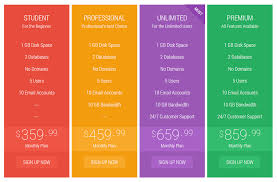 flat pricing table by apex theme codecanyon