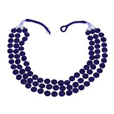 blue fashion necklace images Blue beaded necklace indian handmade costume jewellery fashion jpg