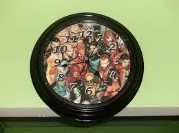 themed clock dollarstore hack diy marvel dc wall clock