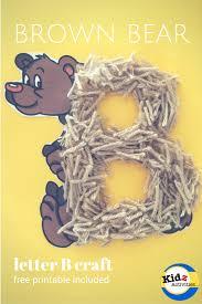 letter b bear craft kidz activities
