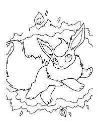 flareon coloring pages flareon coloring page free printable