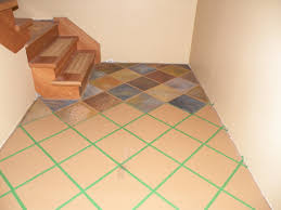 fresh painting tile floors before and after home design image