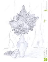 still life pencil drawing stock illustration image of still