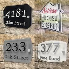 plaque numero rue maison moderne signe porte numéro rue adresse plaque acrylique