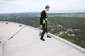a walk on the edge of the roof of the tallinn tv tower 175 m from
