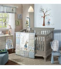 Crib Bedding Set For Boys Lambs Rabbit 4 Crib Bedding Set