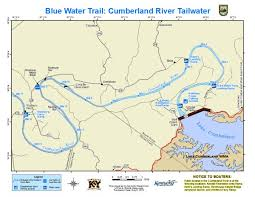 map kentucky lakes rivers kentucky department of fish wildlife cumberland river tailwater