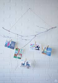 christmas card display holder 6 diy christmas card holder and display ideas think make