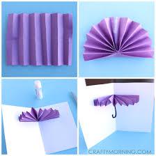 How To Make Paper Umbrellas - 3d umbrella rainy day card for to make crafty morning