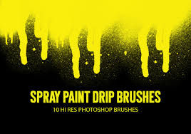 Font Spray Paint - free spray paint drip brushes from brusheezy