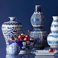 Cobalt Blue Vases Stacked Gourd Vase Blue White Williams Sonoma