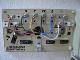 what would the wiring be replacing a trane baystat240 with a