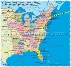 usa east coast map east coast usa travel maps map of east coast usa united states