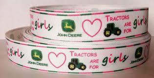 deere ribbon pink deere ribbon yard pink deere tractor inspired 1