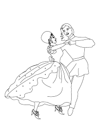 ballroom dancer colouring pages coloring