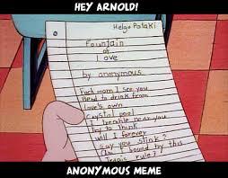 Anon Meme - hey arnold anon meme hey arnold